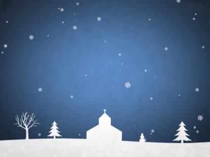 WINTER SNOW BRIGHT BLUE