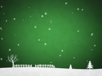 WINTER SNOW GREEN SCROLLING