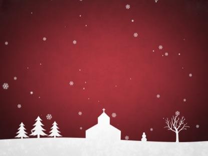 WINTER SNOW RED