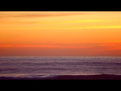 OCEAN HORIZON AT DUSK