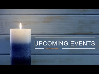 ONE BLUE CANDLE UPCOMING EVENTS