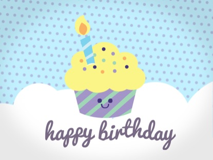 CUPCAKE BIRTHDAY LOOP
