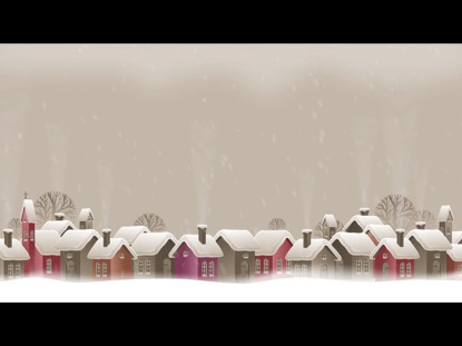 CHRISTMAS TOWN BACKGROUND WITHOUT BIRDS