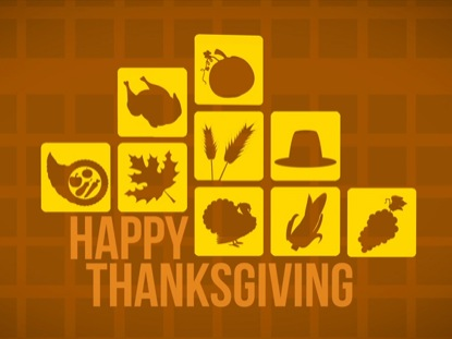 HAPPY THANKSGIVING ICON TITLE