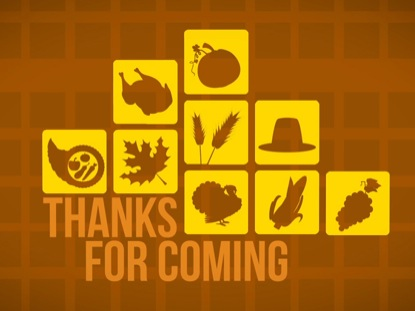 THANKSGIVING ICON GOODBYE