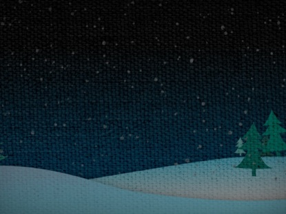 CHRISTMAS SNOW HILLS NIGHT