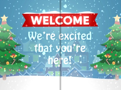 CHRISTMAS VILLAGE WELCOME MOTION