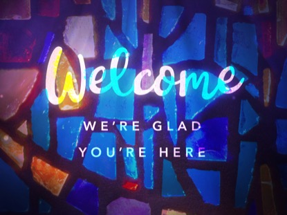 GLASS MOSAIC WELCOME MOTION
