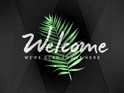 PALM LEAF WELCOME MOTION