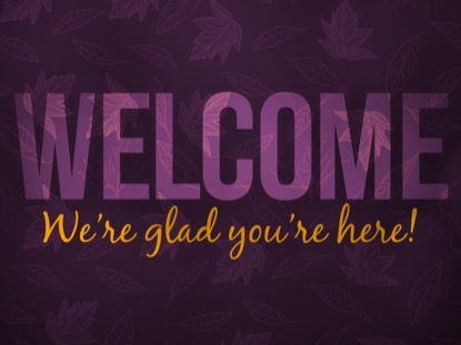 PURPLE FALL WELCOME MOTION
