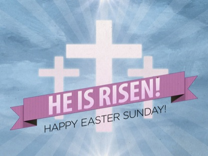 RISEN BANNER EASTER WELCOME