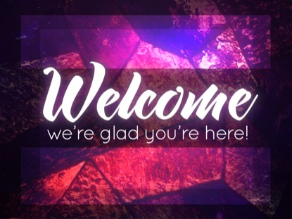 STAINED GLASS WELCOME MOTION