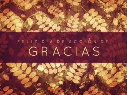 THANKSGIVING GRATITUDE HOLIDAY 1 MOTION - SPANISH