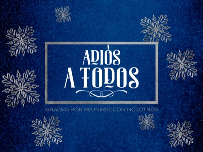 TRENDY CHRISTMAS CLOSING MOTION - SPANISH