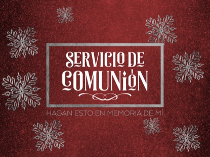 TRENDY CHRISTMAS COMMUNION MOTION SPANISH