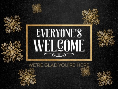 TRENDY CHRISTMAS WELCOME MOTION
