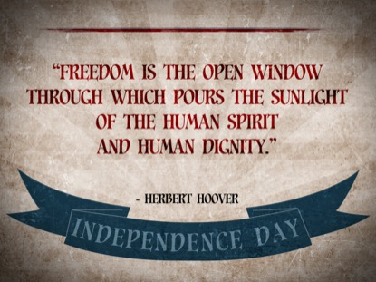 VINTAGE INDEPENDENCE DAY QUOTES