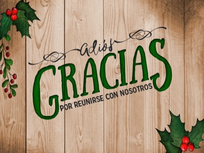 WOODEN CHRISTMAS CLOSING MOTION SPANISH