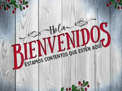 WOODEN CHRISTMAS WELCOME MOTION - SPANISH