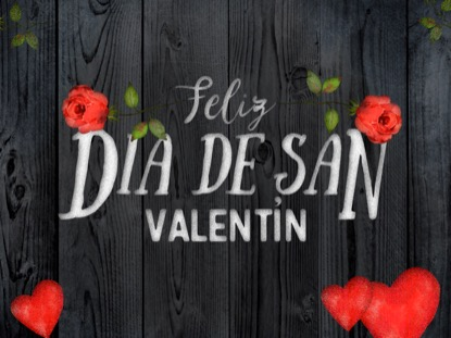 WOODEN VALENTINE HOLIDAY MOTION - SPANISH