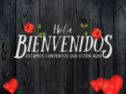 WOODEN VALENTINE WELCOME MOTION SPANISH