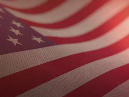 BEAUTIFUL 3D AMERICAN FLAG LOOP