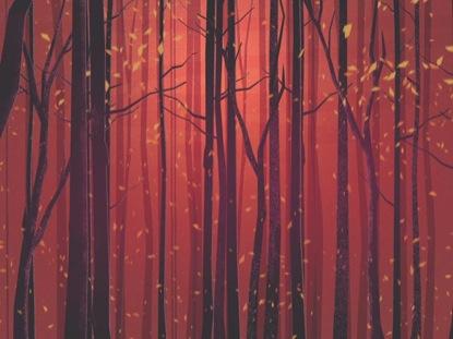 AUTUMN FOREST ORANGE CLOSE BLANK