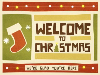 CHRISTMAS CUTOUT WELCOME