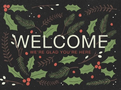 CHRISTMAS PINE WELCOME