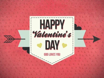 CUPIDS ARROW HAPPY VALENTINES DAY