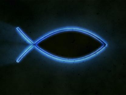 DARK BLUE ICTHUS