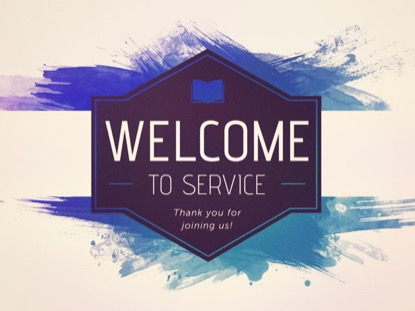 EASTER WATERCOLOR: WELCOME TO SERVICE
