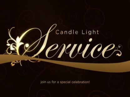 ELEGANT RIBBON CANDLE LIGHT SERVICE
