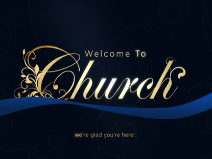 ELEGANT RIBBON WELCOME TO CHURCH