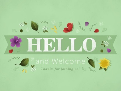 FLORAL MOTIF - HELLO AND WELCOME