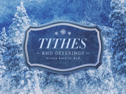 FROST TITHES AND OFFERINGS 2