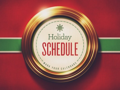 GOLDEN RINGS HOLIDAY SCHEDULE