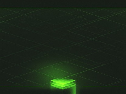 HOLOGRAPHIC CUBES GREEN