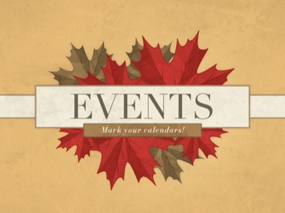 ILLUSTRATED AUTUMN LEAVES EVENTS