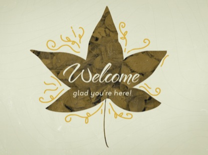LEAF SILHOUETTES: WELCOME