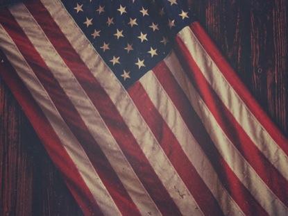 MEMORIAL DAY FLAG BLANK