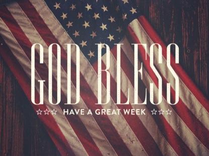 MEMORIAL DAY FLAG GOD BLESS