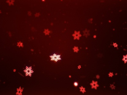 SNOW FLAKES RED
