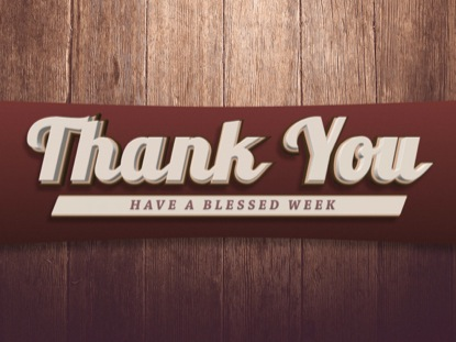 TIMBER PANELS THANK YOU