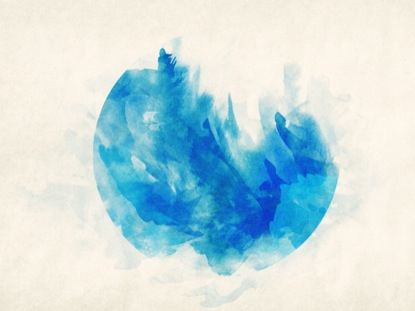 WATERCOLOR CIRCLE BLUE