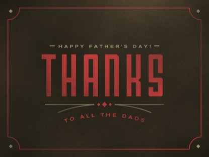 WESTERN LINES THANKS TO ALL THE DADS