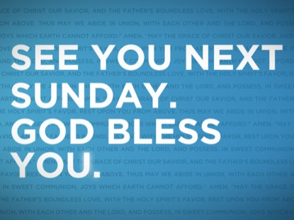 Blue See You Next Week | Igniter Media | WorshipHouse Media