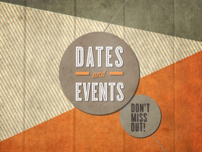 PASTEL SHAPES DATE AND EVENTS