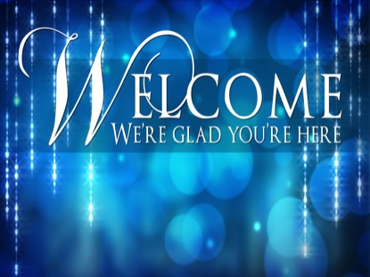 BLUE BOKEH WELCOME