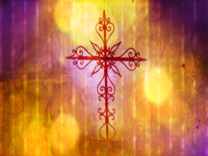 GOLD AND PURPLE CROSS